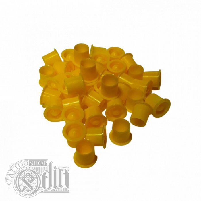Колпачки под краску (с подставкой) - Желтые (9мм)