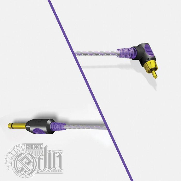 Клип-корд RCA от Bishop Purple (угловой)